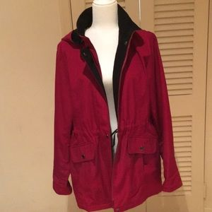 Croft and Barrow red rain jacket with hood